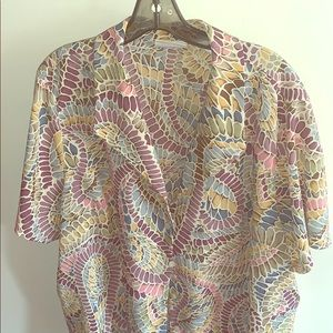 🍭ALFRED DUNNER 20W SHORT SLEEVE WOMANS BLOUSE